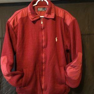 Men's Burgundy Ralph Lauren zip up jacket